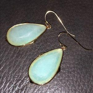 Stella & Dot turquoise teardrop earrings EUC